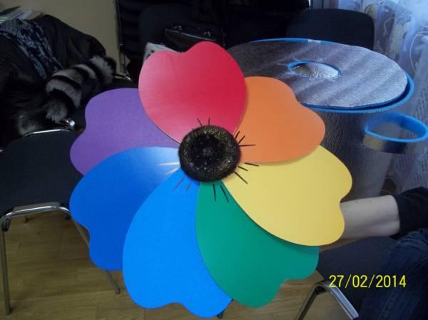 Как сделать лепестки семицветика 398
