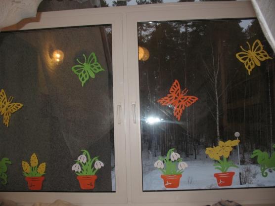 Украшения в детском саду к весне своими руками