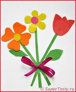 Открытка нарисованная красками 8 марта бесплатные открытки