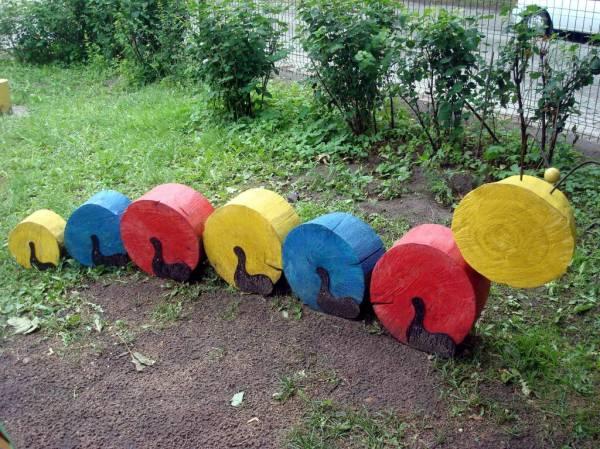 Поделки на детскую площадку в садик своими руками из дерева